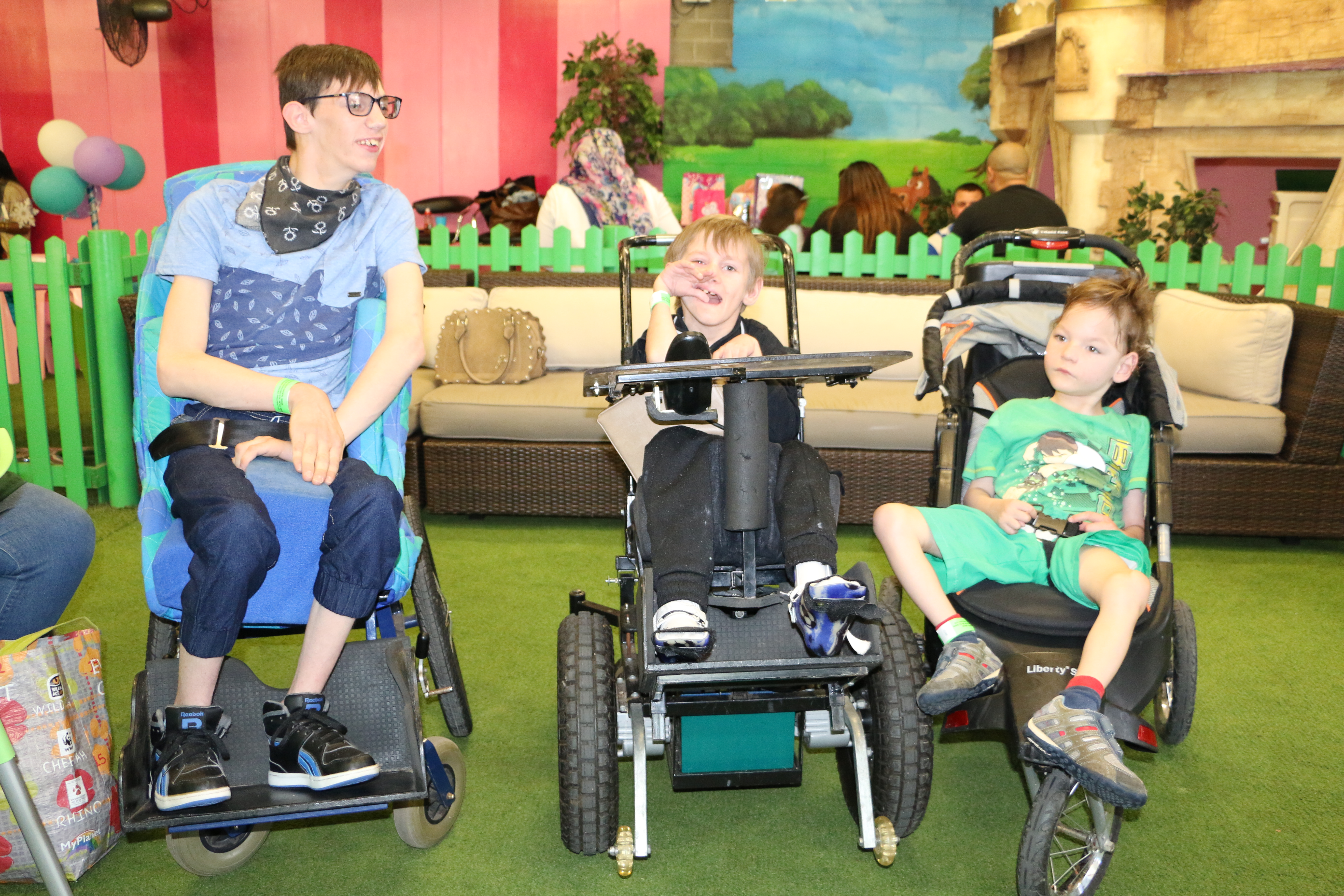 Warrior On Wheels Foundation visit Bugz Family Playpark