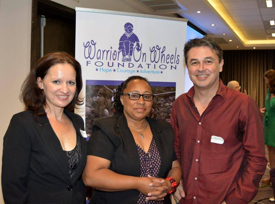 Deirdré Gower, Marita Petersen (representing the mayors office), Rod Wannenburgh