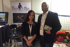 Sheraaz from Cape Nature visiting our stand