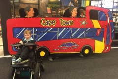 Damian Gower with the Cape Town Red Bus